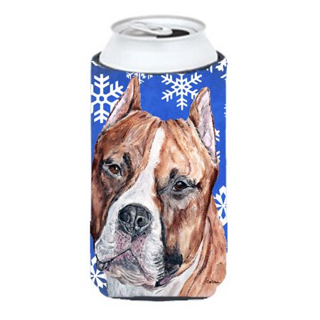 Staffordshire Bull Terrier Staffie Winter Snowflakes Tall Boy bottle sleeve Hugger - 22 To 24 Oz. - image 1 de 1