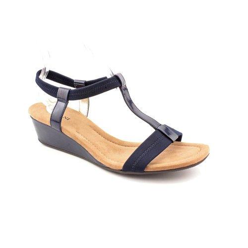 201cd0ffa75c Alfani - Women s Voyage T-strap Wedge Sandals - Walmart.com