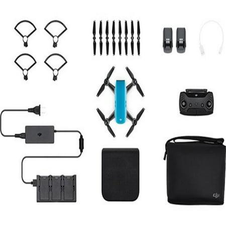 Refurbished DJI Spark Mini Drone - Sky Blue Spark Mini Drone - Fly More Combo