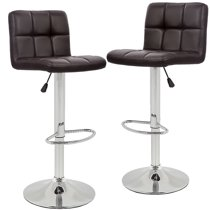 Counter Height Bar Stools Set Of 2 Bar Chairs Counter Height Adjustable  Swivel Stool with Back PU Leather Kitchen Counter Stools Dining Chairs Home  ...