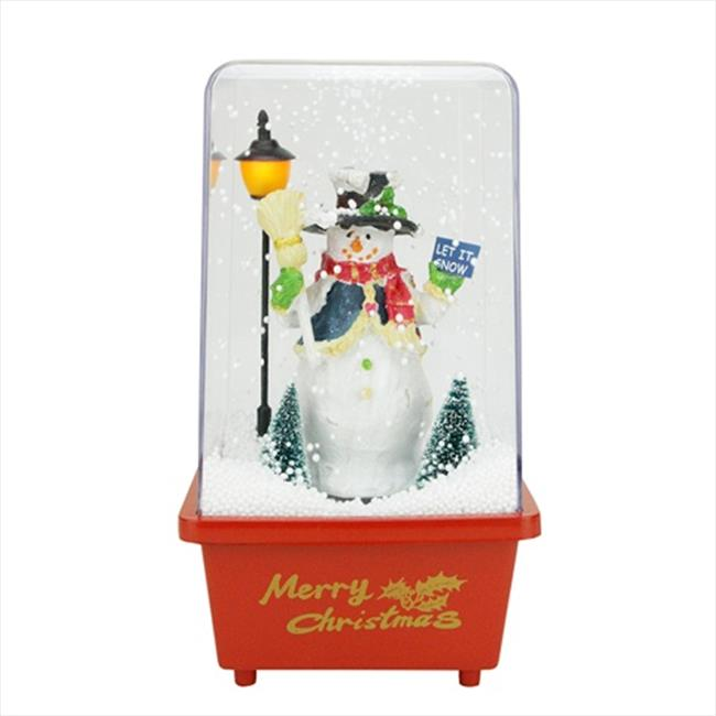 NorthLight 11.5 in. Musical Let It Snow Snowman Christmas...