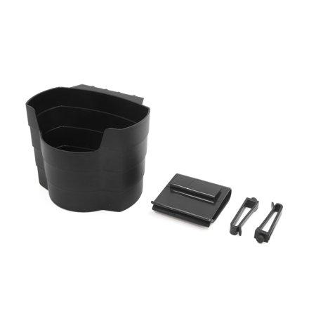 Black Plastic Car Air Vent Mobile Phone Drinks Storage Holder Organizer Box Case