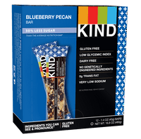 KIND Bars, Blueberry Pecan + Fiber , 12 Bars, Gluten Free