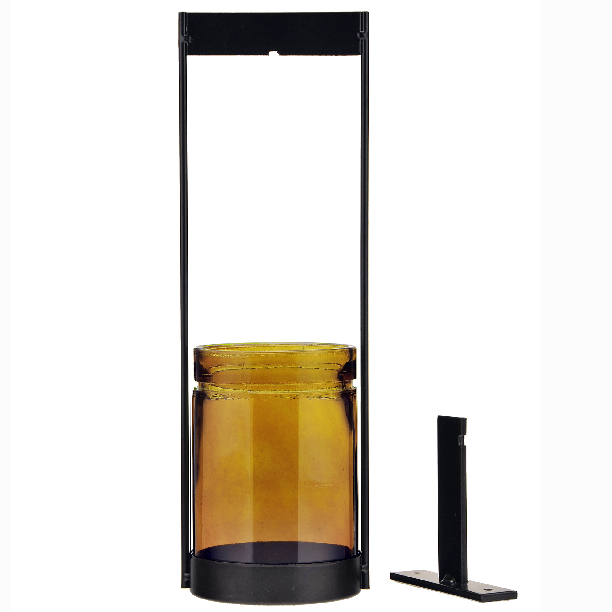 c0eef6311ba7 Couronne Co Verona Hanging Glass Container, 14.5 inches tall,  M304-200-00-P, 26.6 Ounce Capacity, Clear