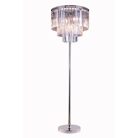 Bombay Somette Perth Collection Grand Crystal 63-inch Floor Lamp - Grand Collection Floor