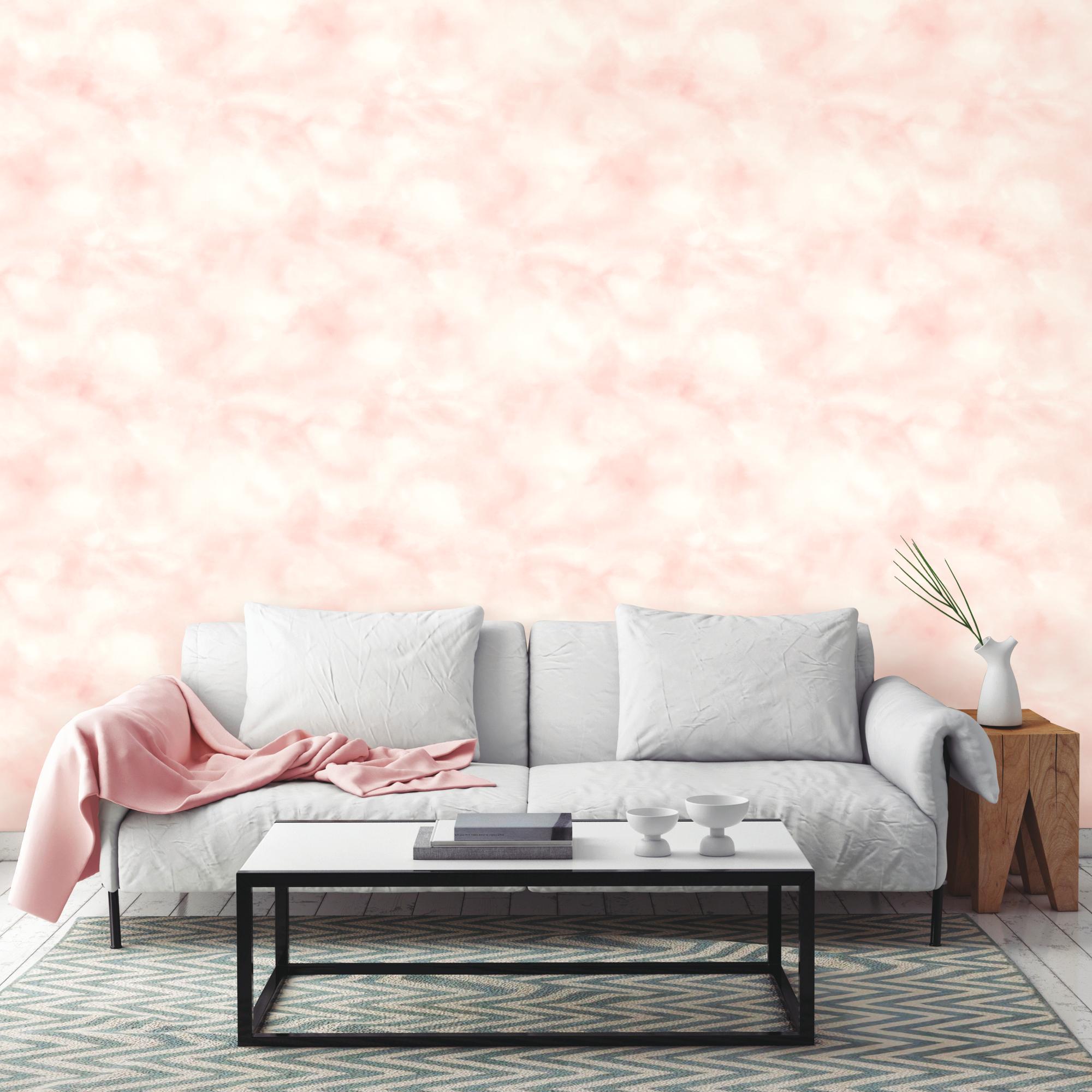 RoomMates Cloud Pink Peel & Stick Wallpaper