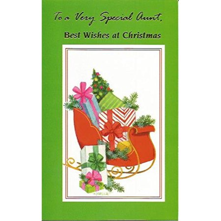 To a Very Special Aunt, Best Wishes At Christmas (C23), Cover: To a Very Special Aunt, Best Wishes At Christmas By Magic Moments Ship from