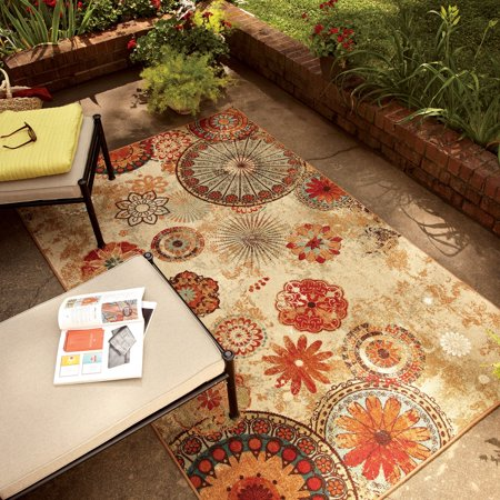 Mohawk Home Alexa Medallion Indoor/Outdoor Nylon Rug, 5' x 8', Multi-Colored (Outdoor Indoor Rug)