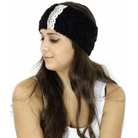 Womens Crochet Warm Hat Cap Knitted Empty Skull Beanie Headband