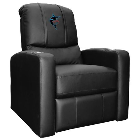 Dreamseat XZ52082CDSMHTBLK-PSMLB21006 Miami Marlins MLB Stealth Recliner with Alternate Logo Miami Dolphins Recliner