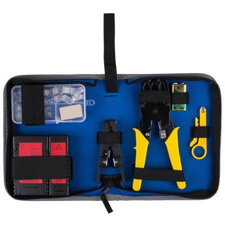 Parts Express 390-780 Network Ethernet LAN Install Tool Kit with Cable Tester and