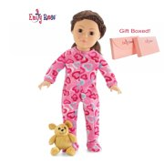 "Emily Rose 18 Inch Doll Clothes ""Onesie"" PJs Pajamas Outfit fits My Life as Dolls 
