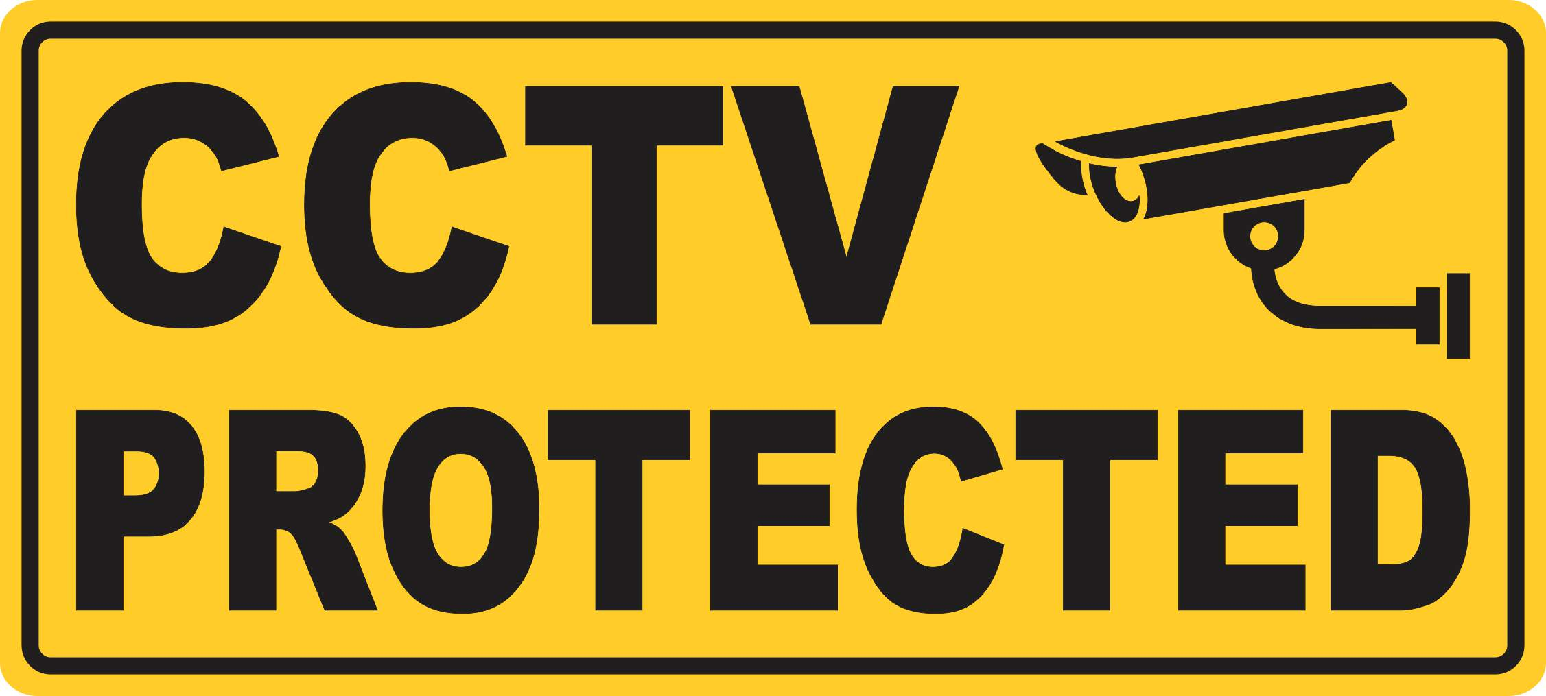 "/""CCTV/"" Magnetic Sign"