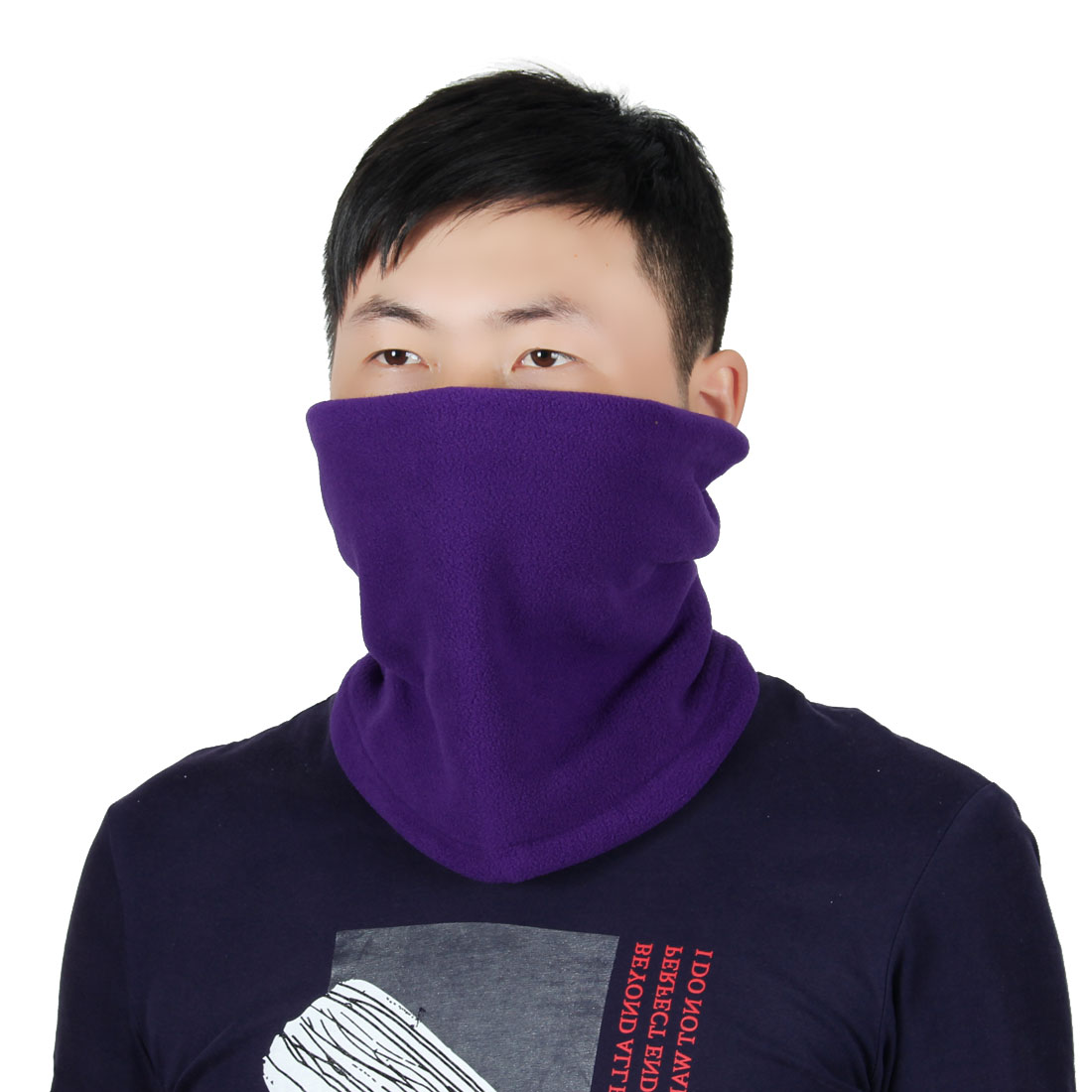 Adjustable Face Mask Winter Neck Tube Protector Outdoor Cycling Scarf Purple by Unique-Bargains