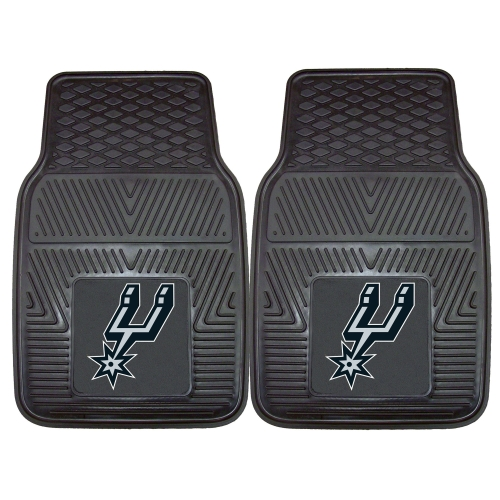 "San Antonio Spurs 2-pc Vinyl Car Mats 17""x27"""