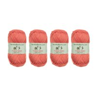BambooMN Brand - Cotton Select Yarn - 4 Skeins - Col 304 - Tigerlily Orange