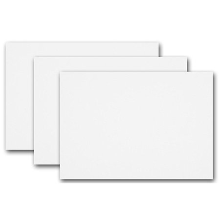 Blank Invitations - Blank Sweet Tooth White 5x7 Flat Card Invitations - 50 Pack