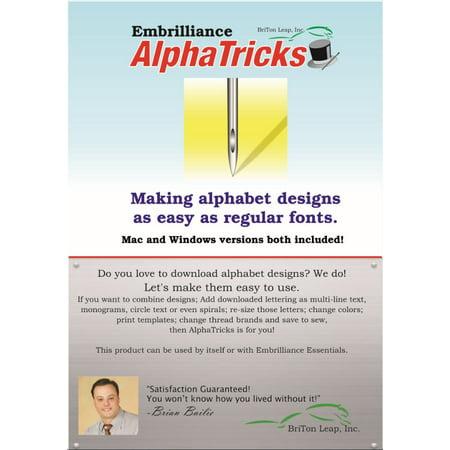 Embrilliance AlphaTricks Embroidery Machine Software For Fonts & Alphabets Embroidery Fonts Software