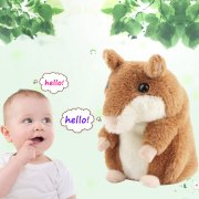Talking Hamster Toy Electronic Repeats Pet Talking Plush Toy Buddy Mouse