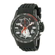 M4 Series Black Ion-plated Steel Black Silicone Mens Watch 0403