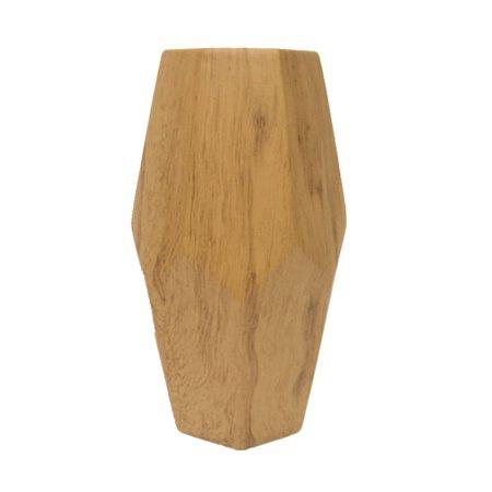 Elements 11 Inch Tan Faux Wood Finish Ceramic Bullet Vase