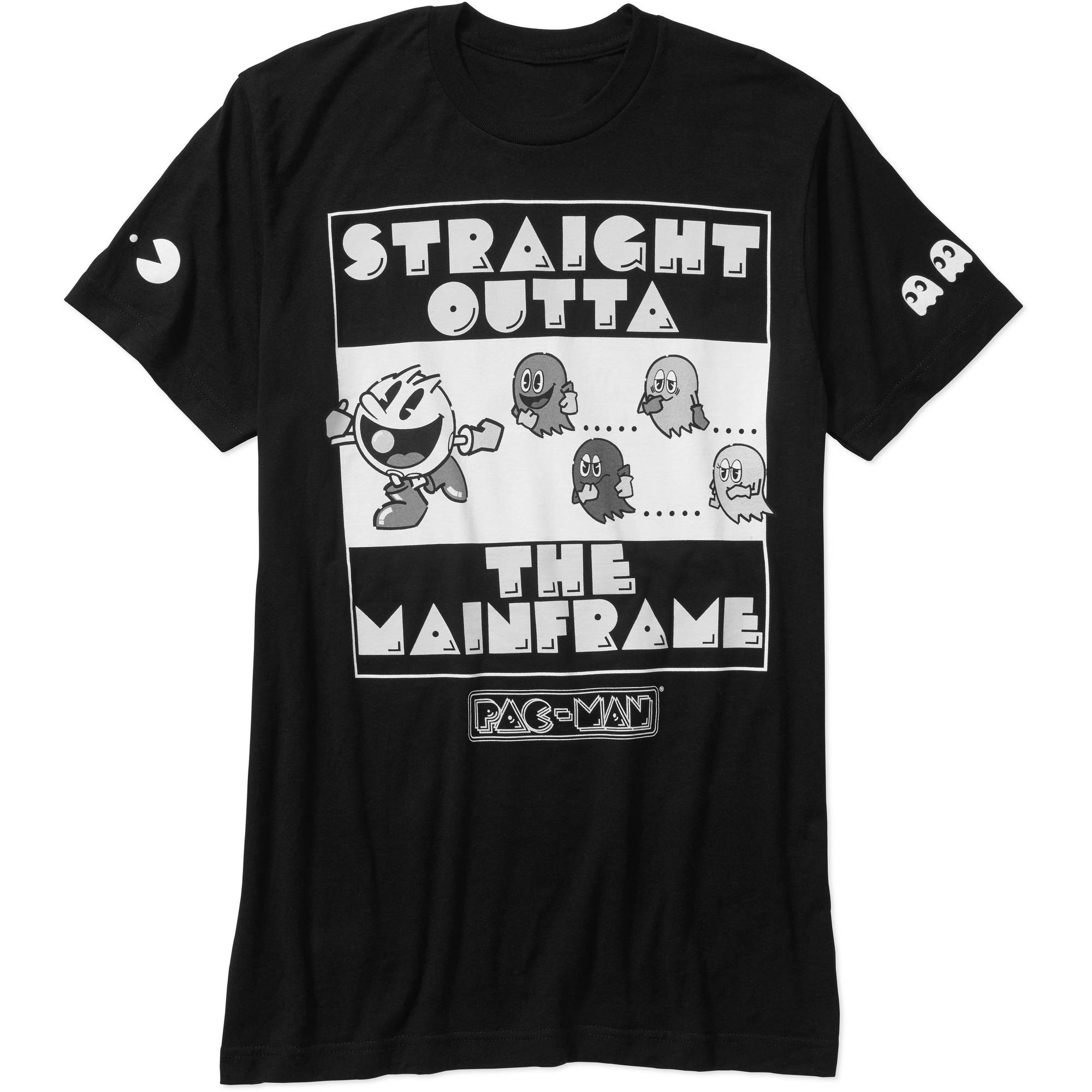 Pac-Man Big Men's Straight Outta the Mainframe Graphic Tee, 2XL