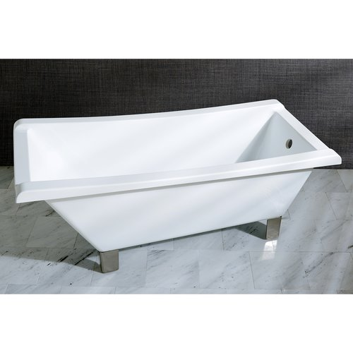 Kingston Brass Aqua Eden 67'' x 29.5'' Soaking Bathtub