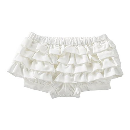 OshKosh B'gosh Baby Girls' Satin Ruffle Bloomers - White - 6 (Baby Girl Bloomers)
