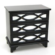 Wayborn Tanner Mirrored Accent Chest in Black
