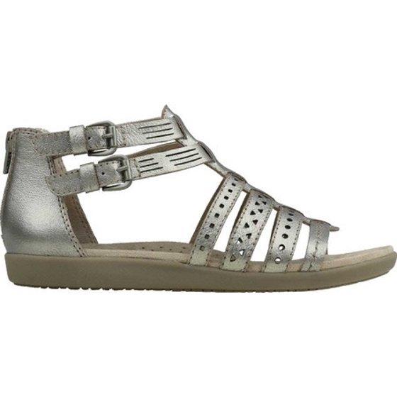 3edea7e37f67 Earth Origins - Earth Origins HARLIN Womens Platinum Leather Gladiator  Sandals - Walmart.com