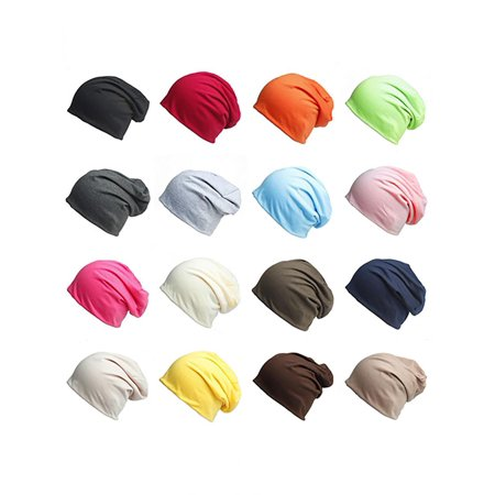 Off White Winter Beanie - Unisex Winter Casual Knitted Warm Solid Color Sports Slouch Hat Baggy Beanie Cap