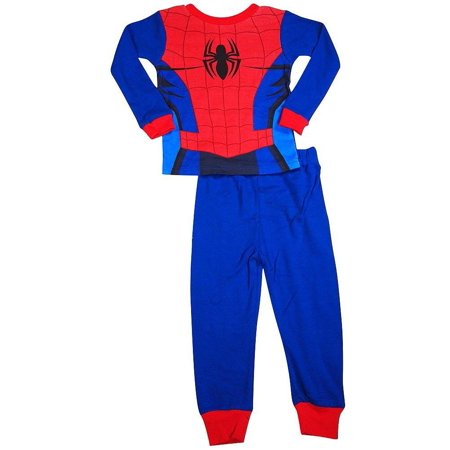 Spiderman Toddler Boys Long Sleeve Cotton Sleepwear Pajama Set, 36256 Royal Blue/Red / 3T (Toddler Spiderman Costume 3t)