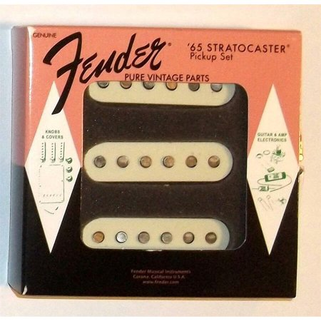 50s Stratocaster Pickups - Fender® Pure Vintage '65 Stratocaster Pickup Set~Alnico 5~0992237000~Brand New