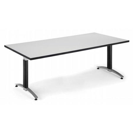 OFM KTMBGRYNB Mesh Base Conference Table X In Gray - 36 conference table
