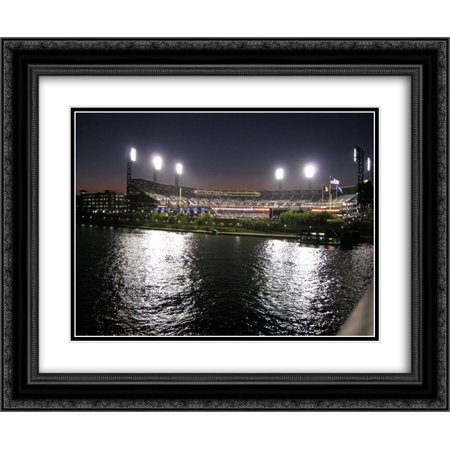 Pnc Park 2X Matted 24X20 Black Ornate Framed Art Print From The Stadium Series