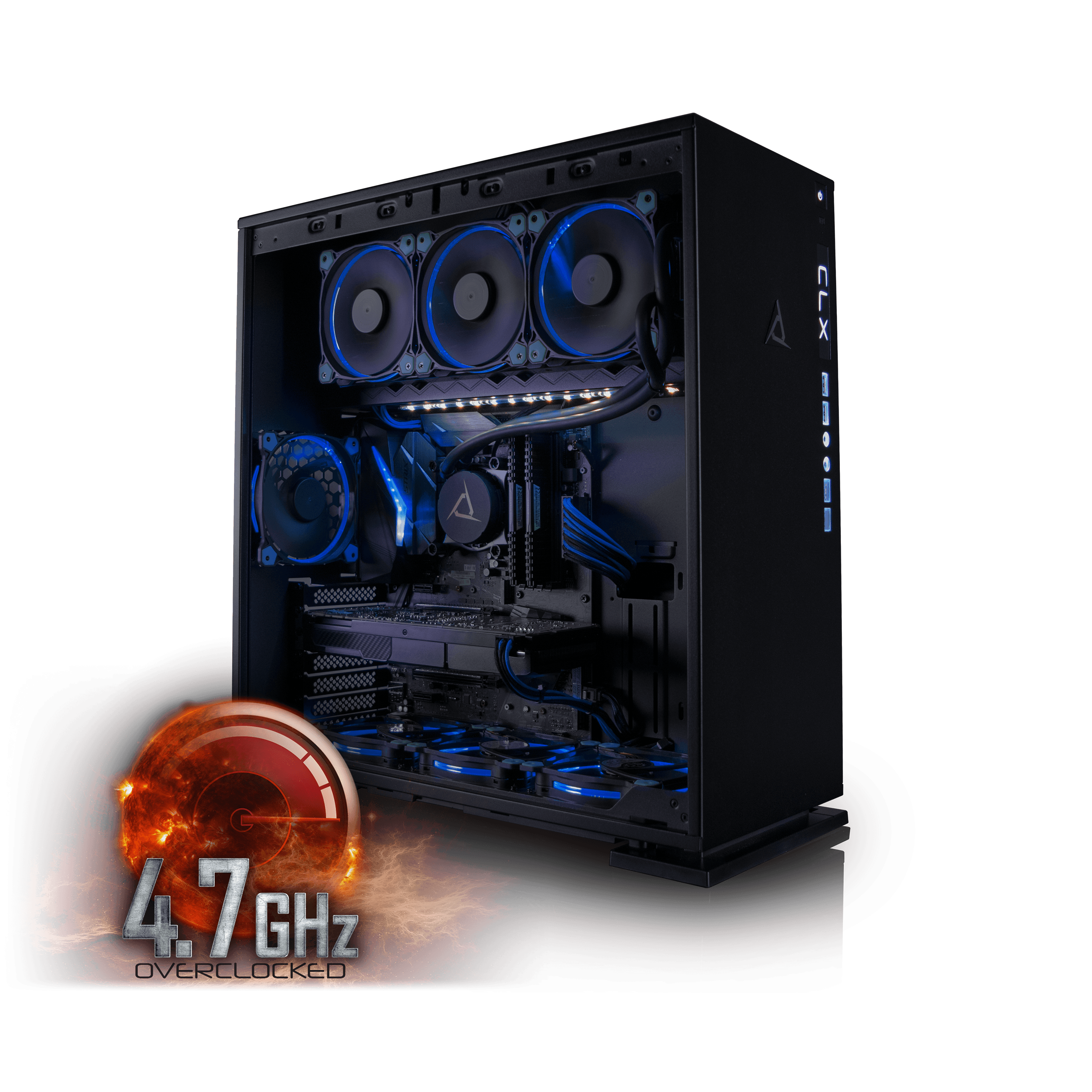 CybertronPC CLX Set High Performance Gaming PC Tripple-Liquid Cooled Z270 Asus Motherboard Intel i7 7700K 4.7GHz(OC)... by CybertronPC