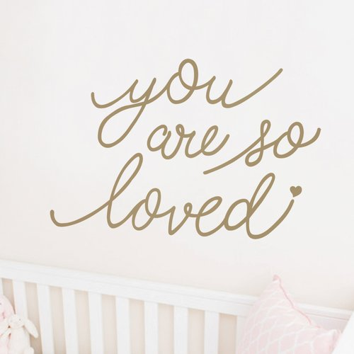 Harriet Bee Crosstown You Are So Loved Quote Wall Decal