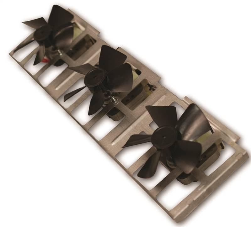 FMI BK3 Manual Control Triple Fan Blower, 5 in H X 17-3/4...