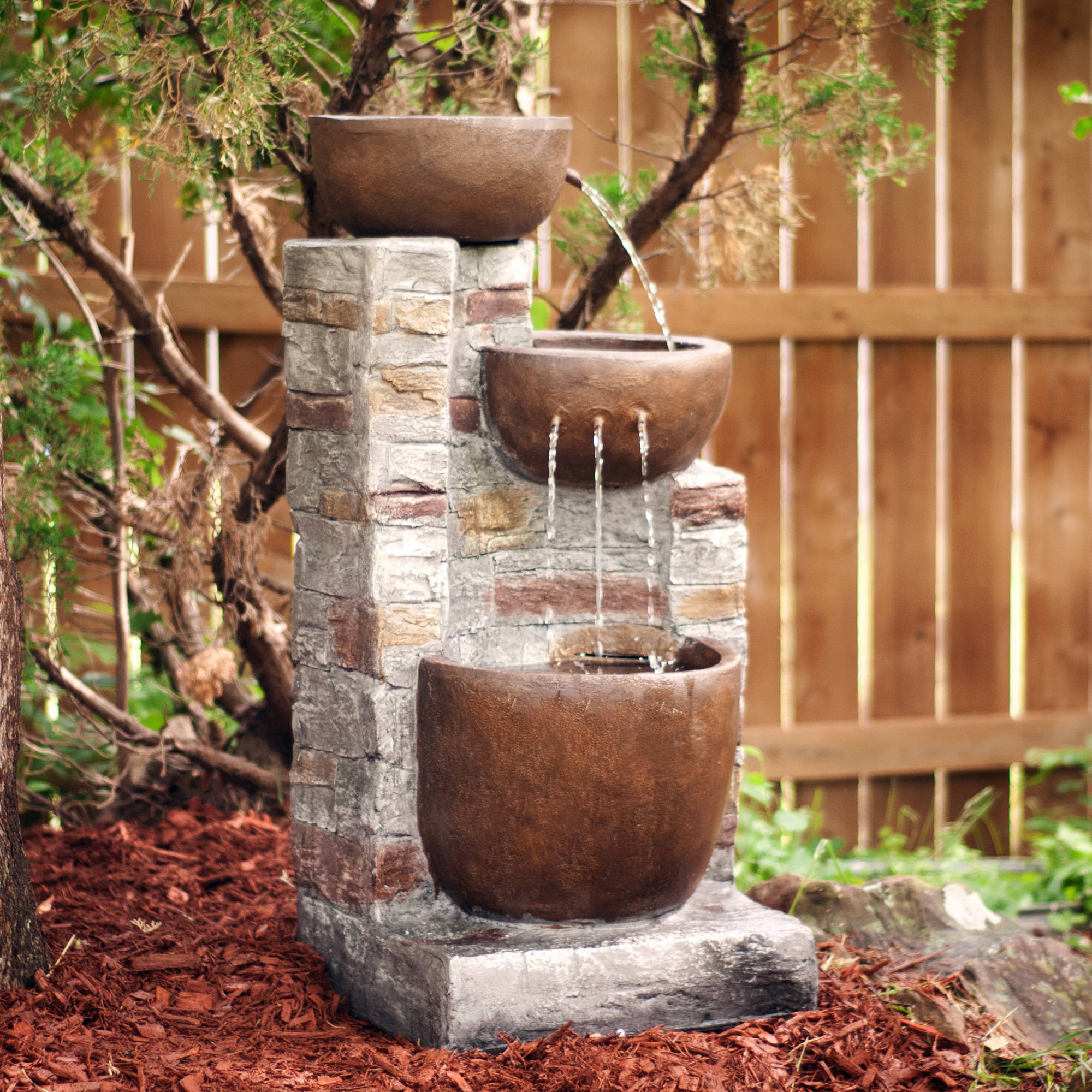 Southern Enterprises Raygorn Outdoor Fountain, Gray by