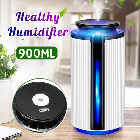 HALLOLURE 900ML 7 Colorful LED Humidifier Air Essential Oil Diffuser Aromatherapy Atomizer for Kids Room Bedroom