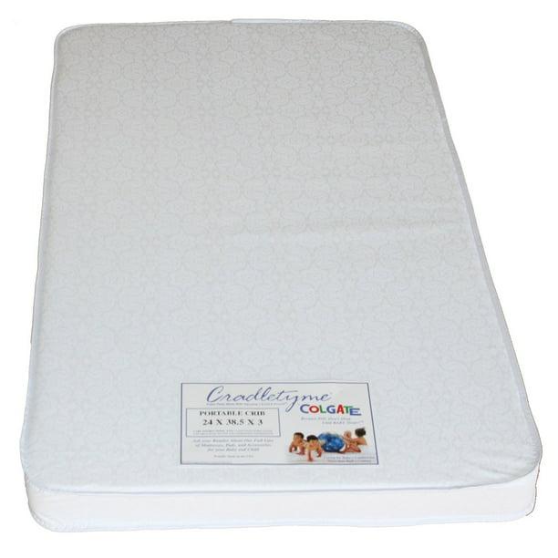 Colgate 3 in. Portable Firm Foam Crib Mattress - Walmart ...