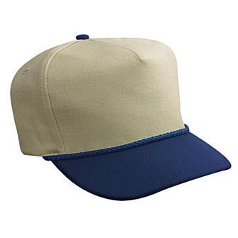 OTTO Wool Blend Twill 5 Panel Low Crown Baseball Cap - Nvy/Kha