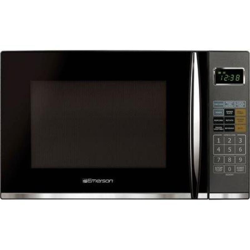 Microwave with Grill, Black Finish with 9 Pre-programmed Recipes 1.2 Cu Ft by Emerson by