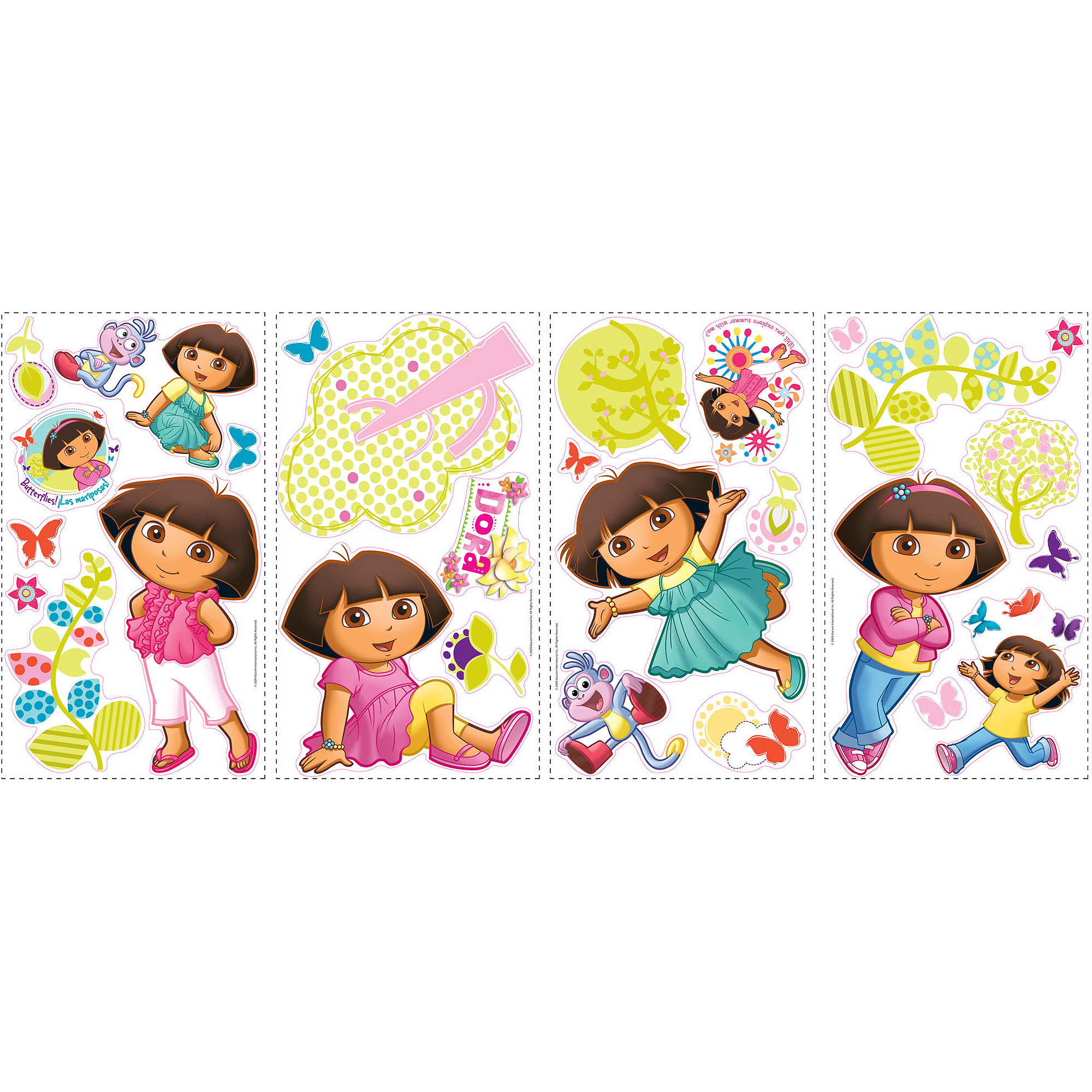 RoomMates Dora the Explorer Peel and Stick Wall Decals