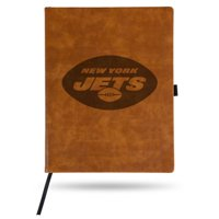 New York Jets Sparo Laser Engraved Large Notepad - Brown