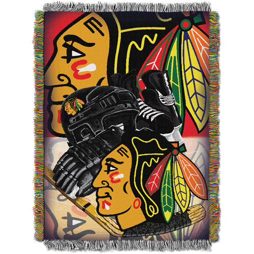 "NHL 48"" x 60"" Home Ice Advantage Series Tapestry Throw, Blackhawks"