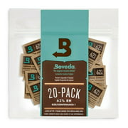 Boveda 62% RH 2-Way Humidity Control   Size 1 Protects Up to 1/8 Oz   20-Count
