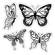 Inkadinkado Cling Stamps 4 Inch X 4 Inch Sheet-Butterflies
