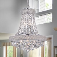 Isidra Chrome and Crystal 15-inch Chandelier