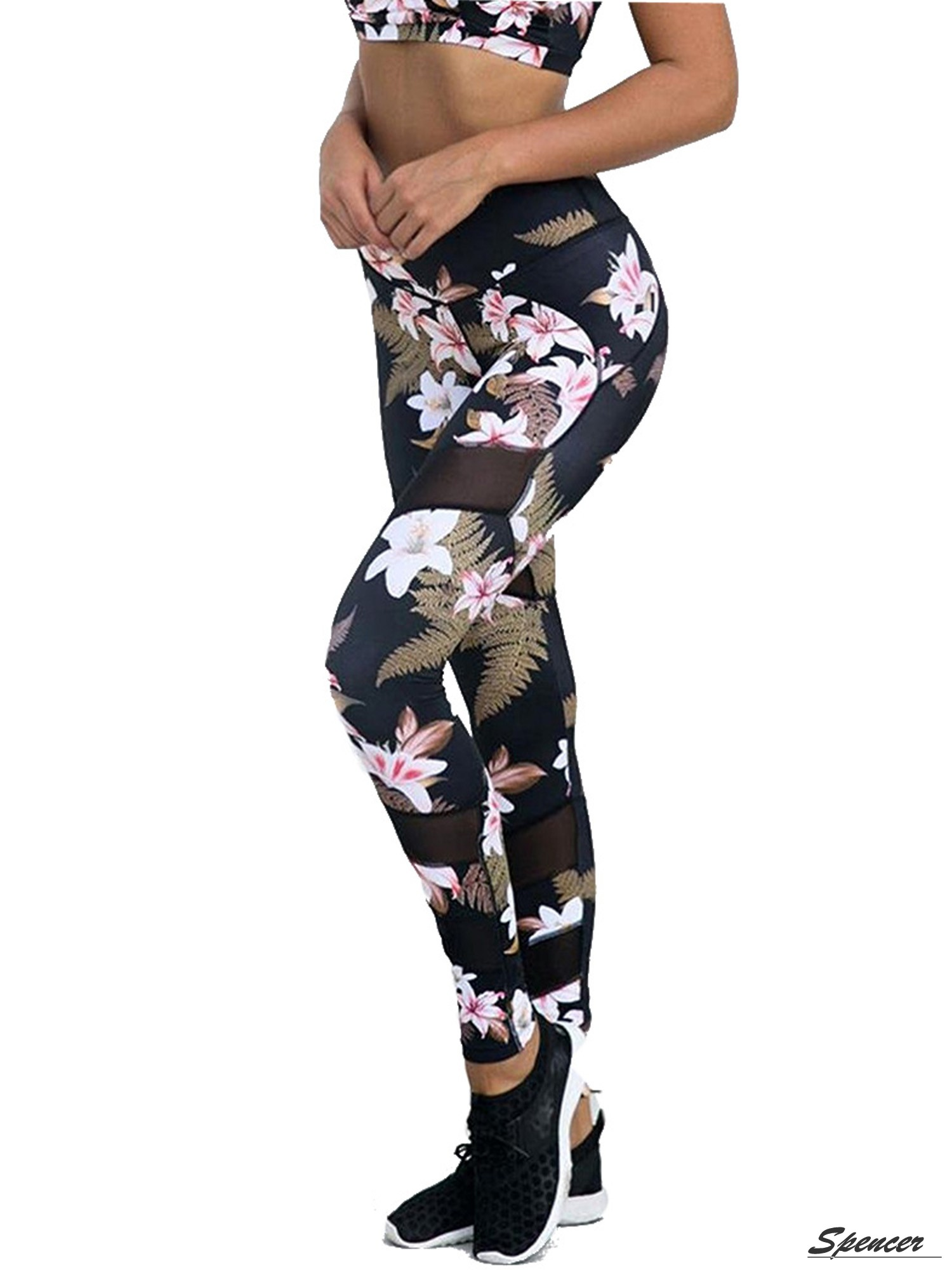 Women Christmas Yoga Gym Sports Leggings Ladies Fitness Pants Stretch Trousers
